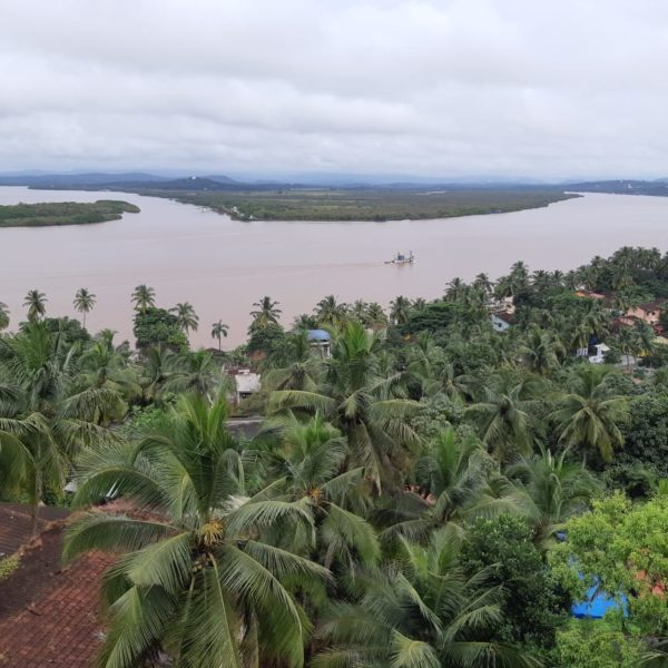 View of the mandovi river